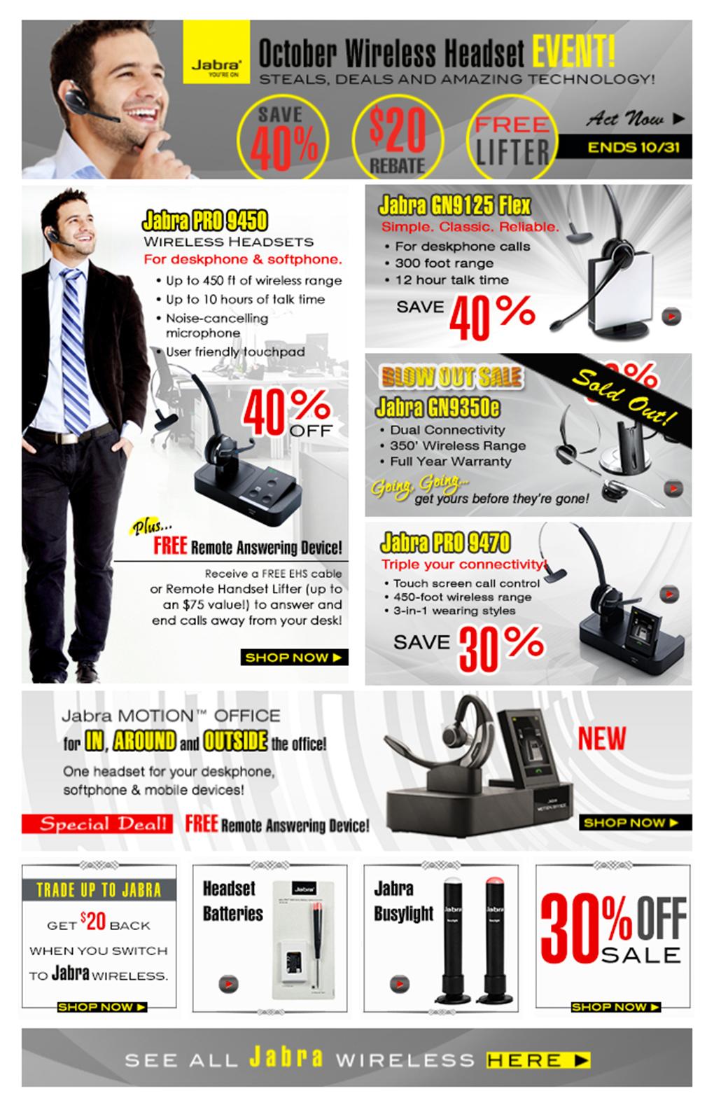 Jabra Headset Sale Event